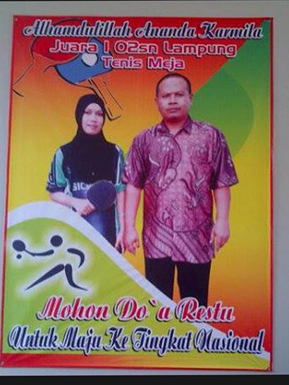 Siswi SMK Muhammadiyah 3 Metro Juara 1 O2SN Tingkat Provinsi Lampung
