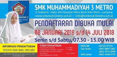 INFORMASI PENERIMAAN PESERTA DIDIK BARU TAHUN PELAJARAN 2018/2019